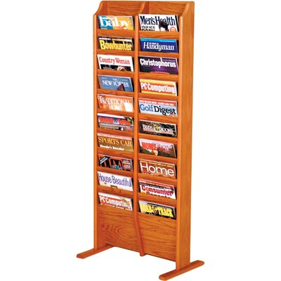 Bengt 20 Pocket Free Standing Magazine Rack Wood Color: Medium Oak