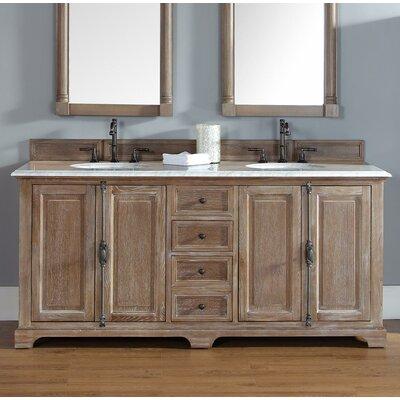 "Belhaven 72"" Double Bathroom Vanity Set Top Finish: Santa Cecilia Granite Top"