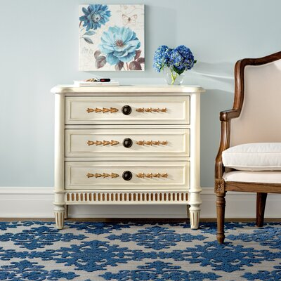 Cates 3 Drawer Fluted Base Chest