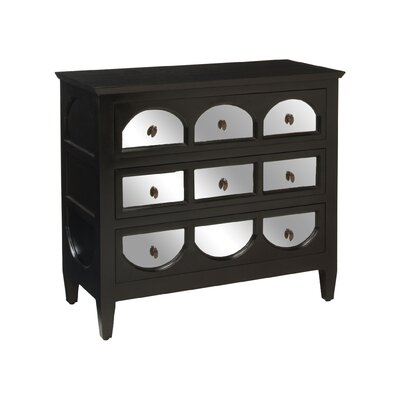 Sarah Mirrored 3 Drawer Accent Chest