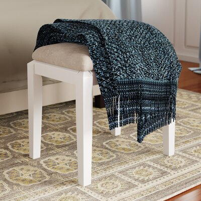 Andalusia Vanity Stool Finish: Snow White