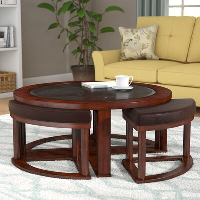 Eastin Coffee Table with Nested Stools