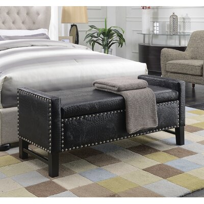 Vandalia Storage Bench Upholstery: Black