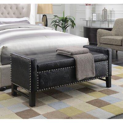 Vandalia Storage Bench Upholstery: Black