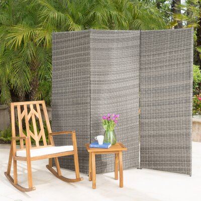 Zula Outdoor 3 Panel Room Divider Finish: Brown