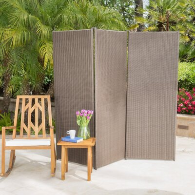 Abdul Outdoor 3 Panel Room Divider Finish: Chestnut