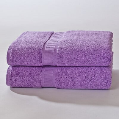 Bloomberg Terry Cloth Bath Sheet Color: Lilac