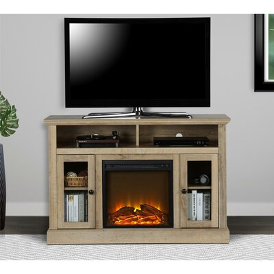 """Rosier 47"""" TV Stand with Electric Fireplace Finish: Natural"""