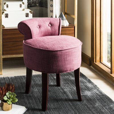 Osteler Vanity Stool Color: Rose