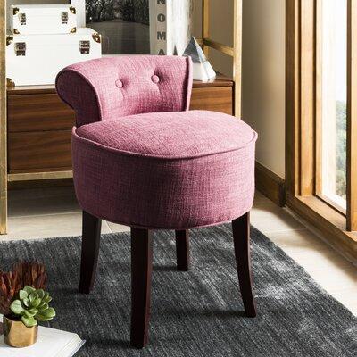 Osteler Vanity Stool Color: Rose