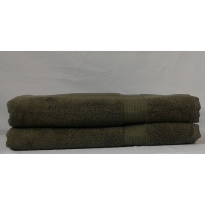Bloomberg Terry Cloth Bath Sheet Color: Moss Green