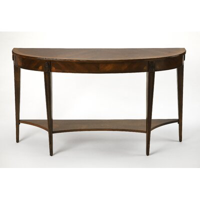 Rochele Demilune Console Table Color: Cherry Nouveau