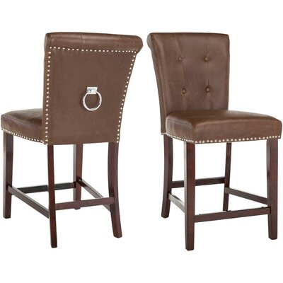 "Prater 26"" Bar Stool Color: Brown"