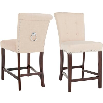 "Prater 26"" Bar Stool Color: Beige"