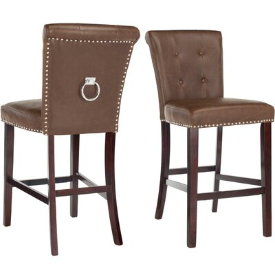 "Prater 29.5"" Bar Stool Color: Brown"