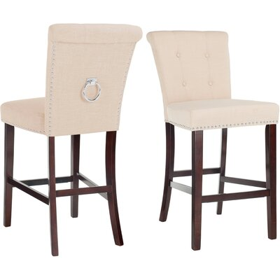 "Prater 29.5"" Bar Stool Color: Beige"