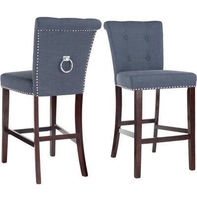 "Prater 29.5"" Bar Stool Color: Navy"