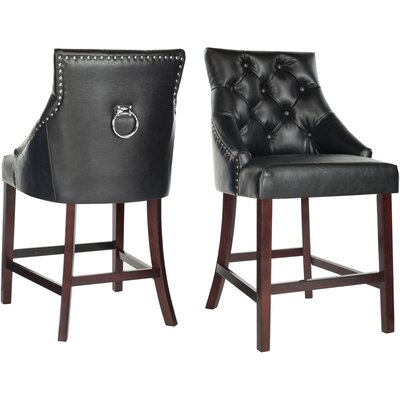 "Kaczmarek 26"" Bar Stool Color: Black"
