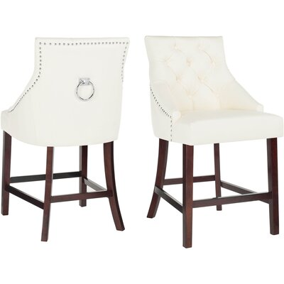"Kaczmarek 26"" Bar Stool Color: White"