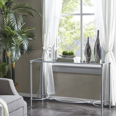 Turner Console Table Color: Silver