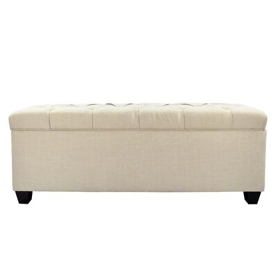 Erik Wood Storage Bench Upholstery: Beige