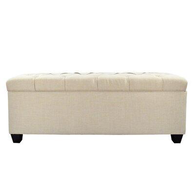 Erik Wood Storage Bench Upholstery: Beige