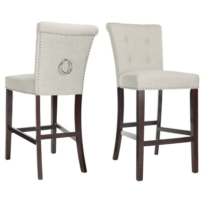 "Prater 29.5"" Bar Stool Color: White"