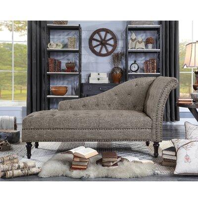 Deedee Chaise Lounge Upholstery: Brown