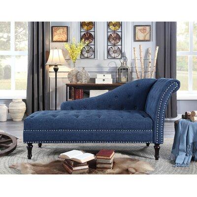 Deedee Chaise Lounge Upholstery: Blue