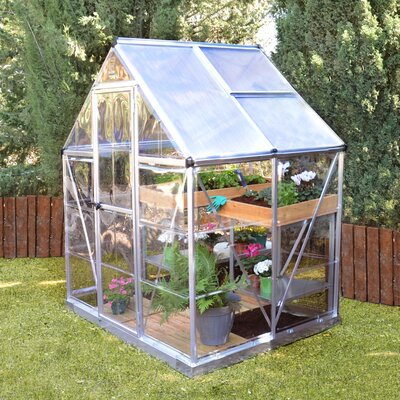 Shearson 6 Ft. W x 4.5 Ft. D Greenhouse Frame Finish: Silver