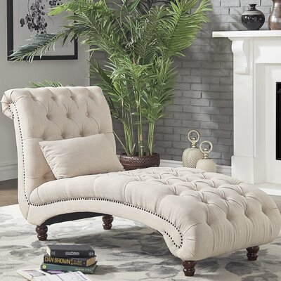 Gowans Chaise Lounge Upholstery: Beige