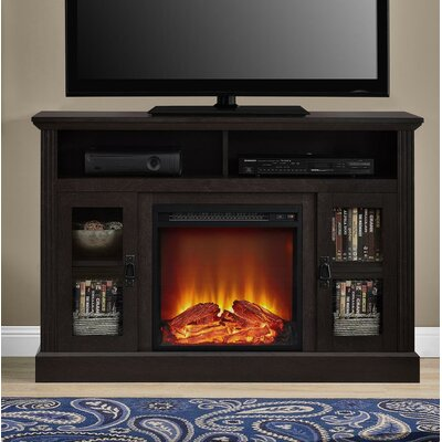 """Rosier 47"""" TV Stand with Electric Fireplace Finish: Espresso"""