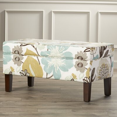 Thurston Upholstered Storage Bench Color: Off-White