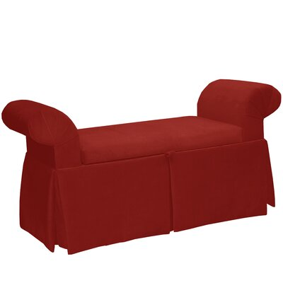 Premier Queen Anne Upholstered Storage Bench Color: Red