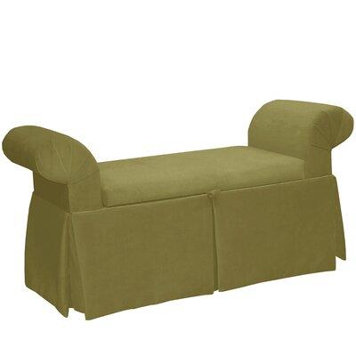 Premier Queen Anne Upholstered Storage Bench Color: Sage