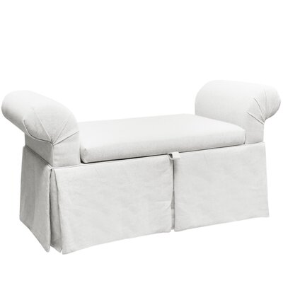 Queen Anne Upholstered Storage Bench Color: White