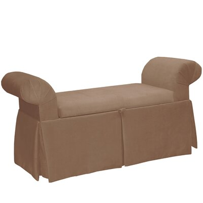 Queen Anne Upholstered Storage Bench Color: Cocoa