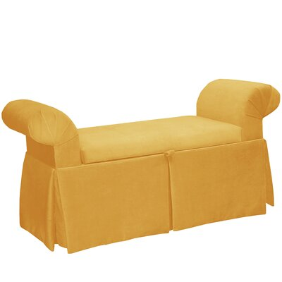 Queen Anne Upholstered Storage Bench Color: Canary