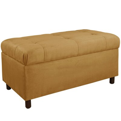 Monroeville Upholstered Storage Bench Color: Moccasin