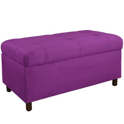Premier Upholstered Storage Bench Color: Hot Purple