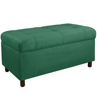 Regal Upholstered Storage Bench Color: Laguna