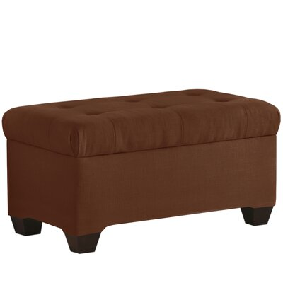 Linen Upholstered Storage Bench Color: Chocolate