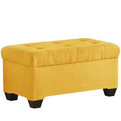 Linen Upholstered Storage Bench Color: French Yellow