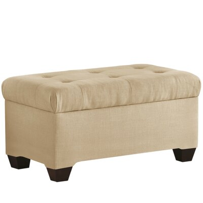 Linen Upholstered Storage Bench Color: Sandstone