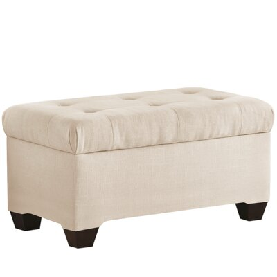 Linen Upholstered Storage Bench Color: Talc