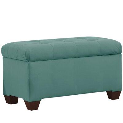 Velvet Upholstered Storage Bench Color: Caribbean
