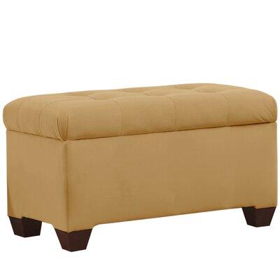 Velvet Upholstered Storage Bench Color: Honey