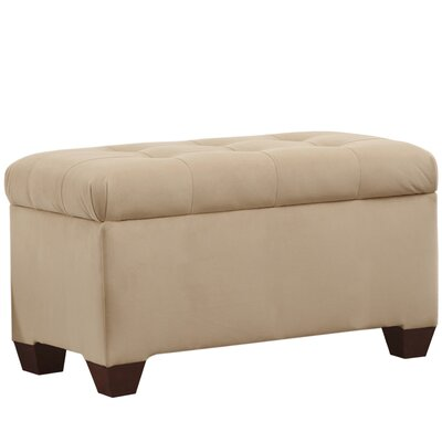 Velvet Upholstered Storage Bench Color: Pearl