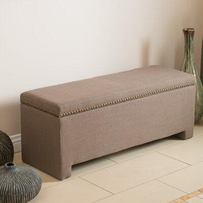 Cloville Upholstered Storage Bench Color: Mocha