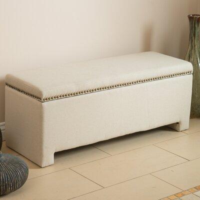 Cloville Upholstered Storage Bench Color: Ivory